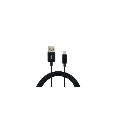Dektronic kabel adapter: USB-A to Micro USB USB 2.0, 1 m, Black - Zwart