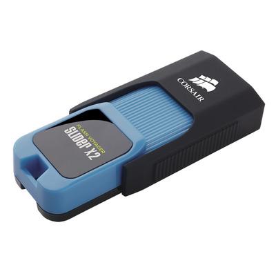 Corsair Voyager Slider X2 USB flash drive - Zwart, Blauw