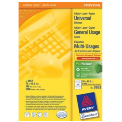 Avery Multi-Function Labels Etiket - Wit
