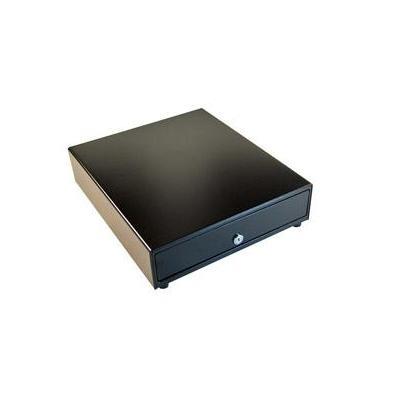 Apg cash drawer geldkistlade: 4 bill / 8 coin, 24V, MultiPro 320, Black - Zwart