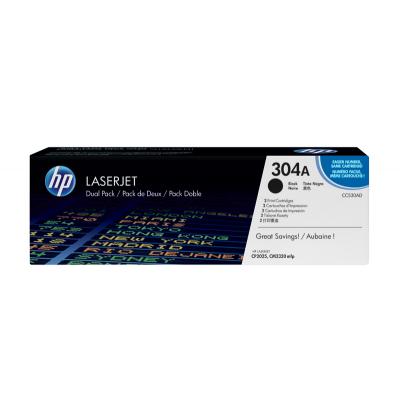 HP toner: 304A 2-pack zwart o.a voor LaserJet CP2025 & CM2320