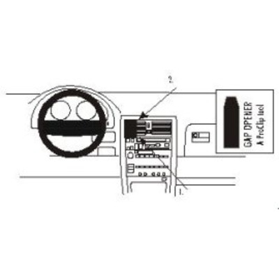 Brodit ProClip for Lexus LS400 90-94 Houder - Zwart