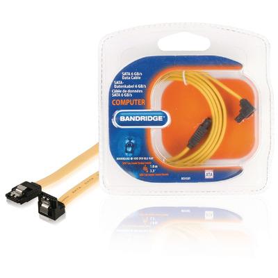 Bandridge 1m SATA ATA kabel - Geel