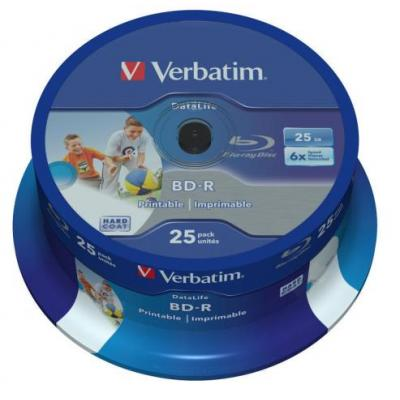 Verbatim BD: BD-R SL DATALIFE 25GB 6X 25 pk spindel