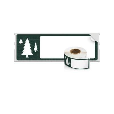 "Dymo adreslabel: LW Holiday Address Labels 1 1/8"" x 3 1/2"" - Groen, Wit"