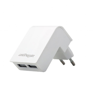 Gembird EG-U2C2A-02-W opladers voor mobiele apparatuur