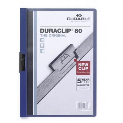 Durable Duraclip 60 Stofklepmap - Blauw, Transparant
