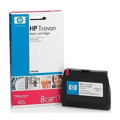 Hewlett Packard Enterprise Travan 8GB Datatape - Zwart