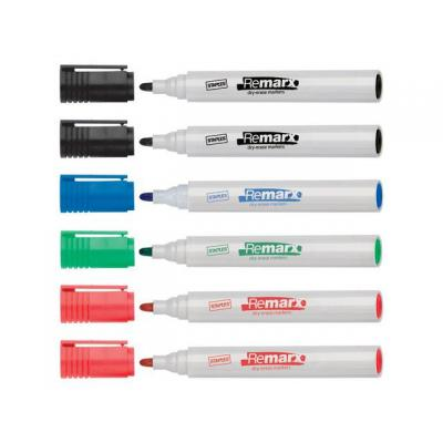 Staples Marker SPLS 8620 drywipe assorti/etui 6 markeerstift