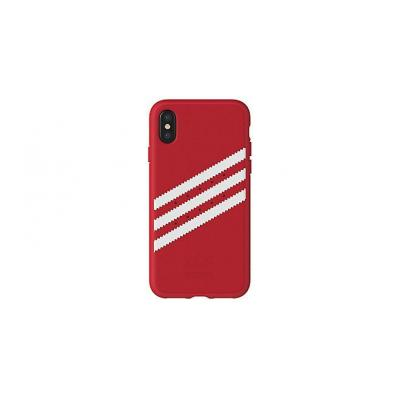 Adidas mobile phone case: Apple iPhone X, Cover - Rood, Wit