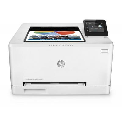 Hp laserprinter: LaserJet Color Pro M252dw - Zwart, Cyaan, Magenta, Geel
