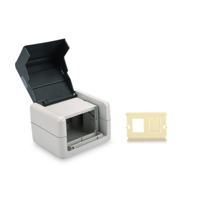 Digitus Outdoor Surface Mount Box IP44, surface mount, hinged lid, incl. inlet for 2x Keystone Modules .....
