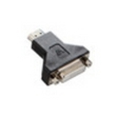 V7 Black Video Adapter HDMI Male to DVI-D Female Kabel adapter - Zwart