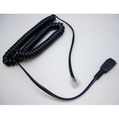 Jabra telefoon kabel: Kabel RJ10-QD, Siemens Open Stage (8800-01-94) - Zwart
