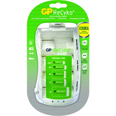 GP Batteries ReCyko+ PB19GS Oplader - Wit