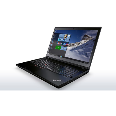 Lenovo laptop: ThinkPad P70 - Zwart