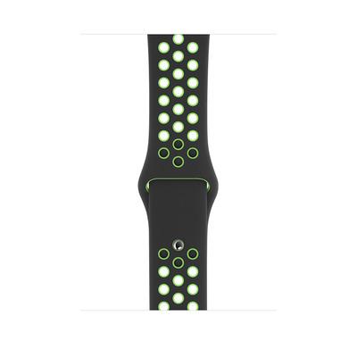 Apple Sportbandje van Nike - Zwart/Lime Blast (44 mm) - Standaardmaat - Zwart, Limoen