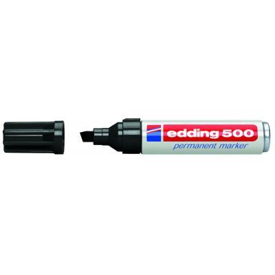 Edding marker: 500 Permanent Marker Black (10) - Zwart