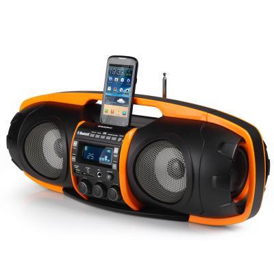 Audiosonic home stereo set: Super Beatblaster Bluetooth, 2 x 25 Watt - Zwart, Oranje