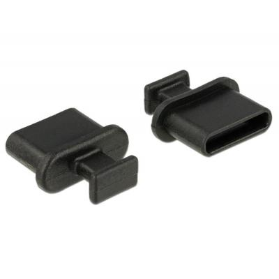 Delock fitting-cove: Dust cover male for USB Type-C female, 10 pcs - Zwart