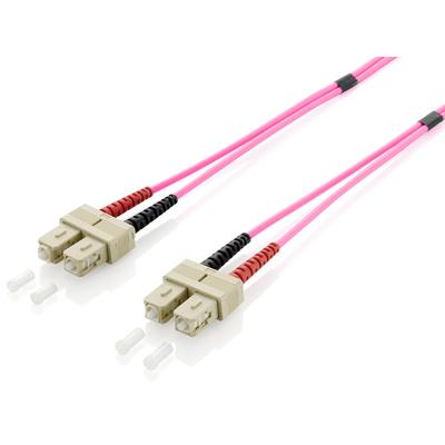 Equip SC/SС Optical Fiber Patch Cord, OM4, 50/125μm, 1.0m Fiber optic kabel - Violet