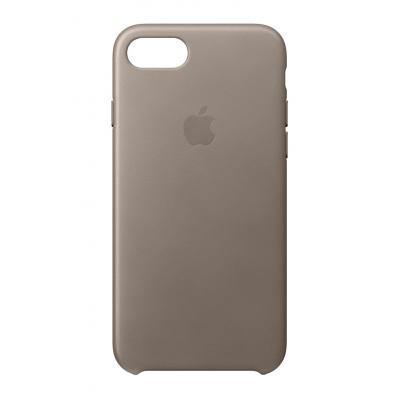 Apple mobile phone case: Leren hoesje voor iPhone 8/7 - Taupe