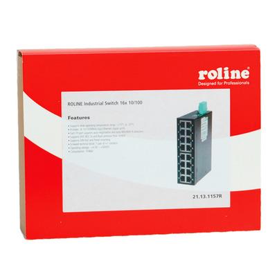 ROLINE Industrial, 16x RJ-45, unmanaged Switch