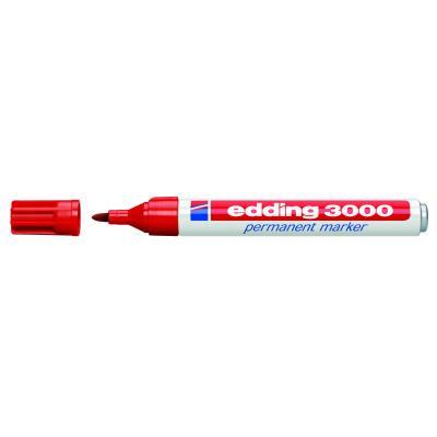 Edding marker: 3000 Permanent Marker Red - Rood