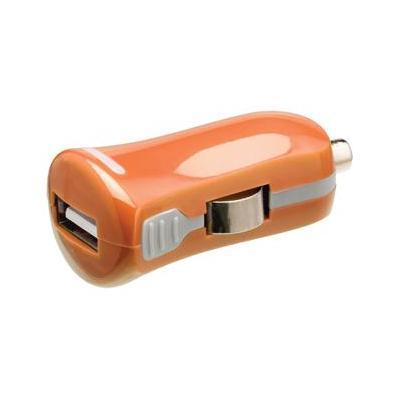 Valueline USB car charger, USB A female - 12 V car connector, orange Oplader - Oranje