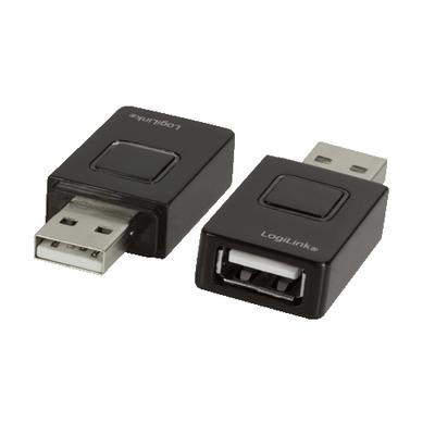 LogiLink USB A M/F, 5V, 2.1A Oplader - Zwart