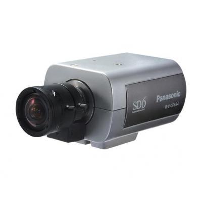 "Panasonic CCD 1/3"", S/N 52dB, White ballance AWC, ATW, CS lens mount, ABF, Beveiligingscamera - Grijs"