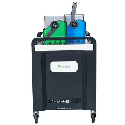 Lockncharge Carrier 40 Portable device management carts & cabinet - Zwart,Blauw,Groen,Grijs