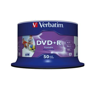 Verbatim DVD: DVD+R Wide Inkjet Printable No ID Brand
