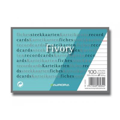 Aurora indexkaart: Systeemkaart 100x150mm wit/pak 100