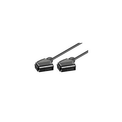 Microconnect : 10m SCART M-M - Zwart