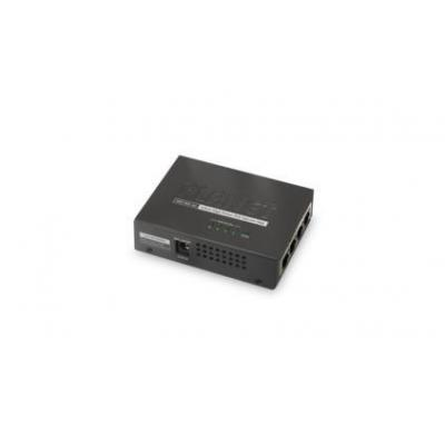 ASSMANN Electronic 4-Port IEEE 802.3at High Power over Ethernet Injector Hub PoE adapter - Zwart