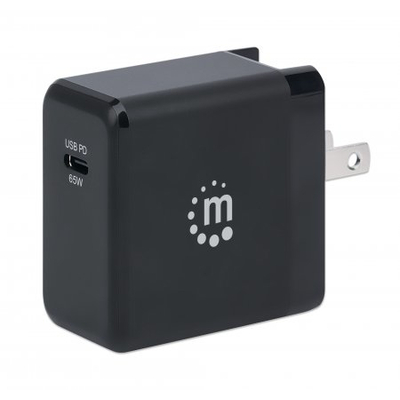 Manhattan Wall GaN Charger (UK, USA and Euro 2-pin), USB-C Port, up to 65W / 3A, GaN (Galium Nitride) tech & .....