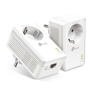 TP-LINK AV1000 Gigabit Passthrough Powerline Starter Kit Powerline adapter - Wit