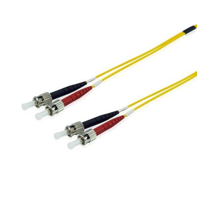 Equip ST/ ST Optical Fiber Patch Cord, OS2, 9/125μm, 2.0m Fiber optic kabel - Geel