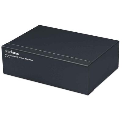 Manhattan Professional, 2-Port, VGA, SVGA, MultiSync (Euro 2-pin plug) Video splitter - Zwart