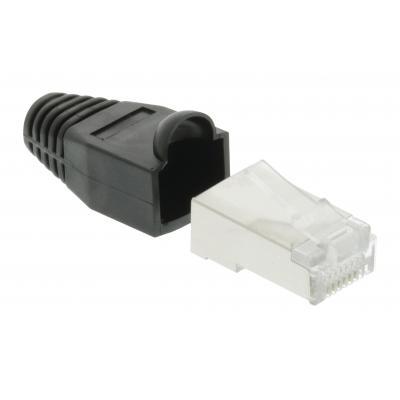 Valueline kabel connector: RJ-45 UTP Cat5 - Zwart, Transparant