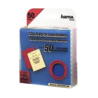Hama : CD/DVD Protective Sleeves 50 - Veelkleurig