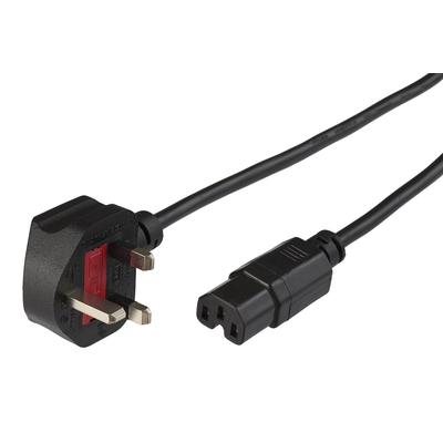 Microconnect BS-1363/C15, 2 m Electriciteitssnoer - Zwart