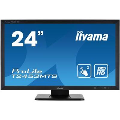 "Iiyama ProLite 24"" dual touch screen, based on Optical touch technology Touchscreen monitor - Zwart"