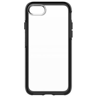 Otterbox mobile phone case: Symmetry Clear iPhone 7 Black Crystal - Zwart, Transparant