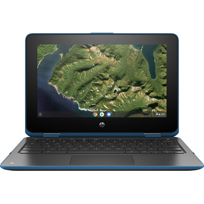 "HP Chromebook x360 11 G2 EE 11,6"" Celeron N 4GB RAM 32GB eMMC Touch Laptop - Blauw, Grijs"