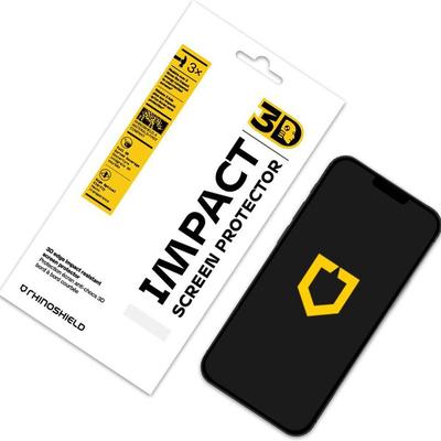 RhinoShield 3D Impact Screenprotector iPhone 12 Mini - Zwart / Black Screen protector
