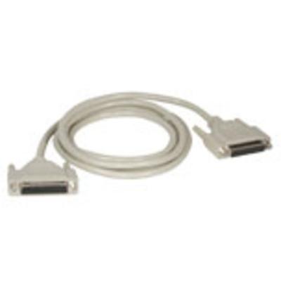 C2g printerkabel: 5m DB25 M/F Cable - Grijs
