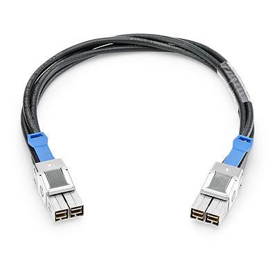 Hewlett packard enterprise signaal kabel: Aruba 3800/3810M 0.5m Stacking Cable - Zwart