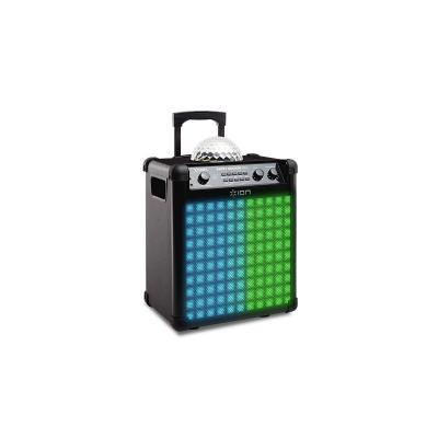 Ion draagbare luidspreker: 100 W, LED, 3.5mm AUX, Bluetooth - Zwart